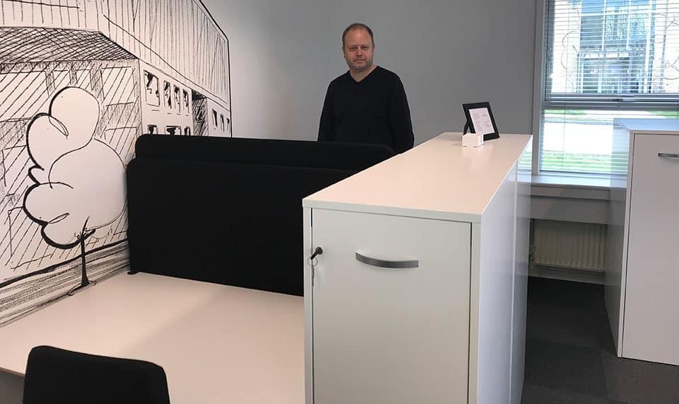 digital drocess i sit nye kontorlokale